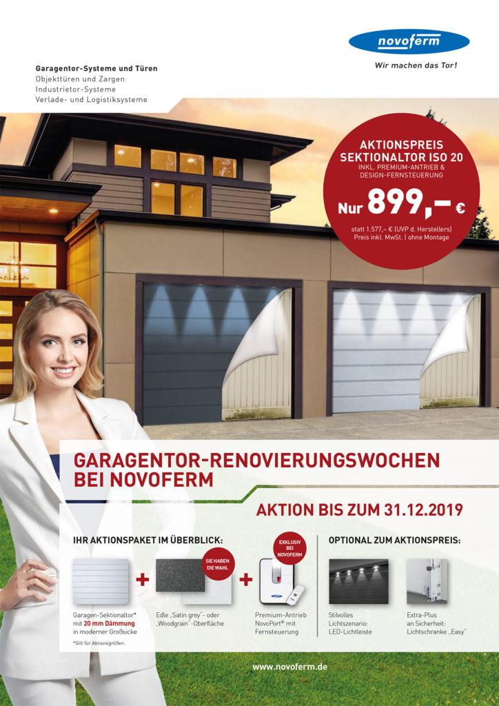 Garagentor-Renovierungswochen bei Novoferm